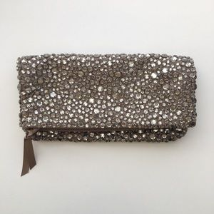 Banana Republic Fold Over Clutch with Gems